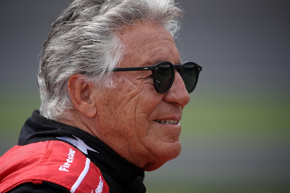 <em>Mario Andretti looks on before the 103rd Indianapolis 500 on May 26, 2019 (Chris Graythen/Getty Images).</em>