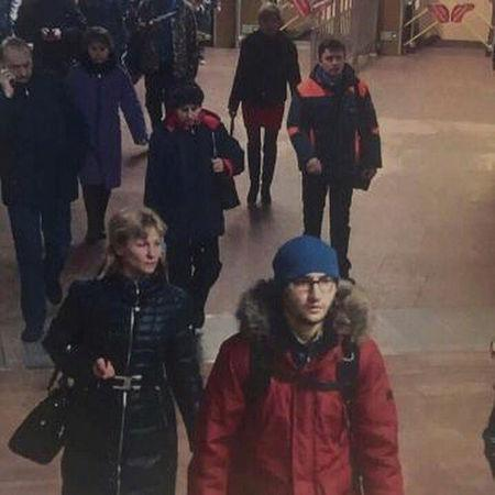 Handout photo of suspect Suspect Akbarzhon at St Petersburg's metro station