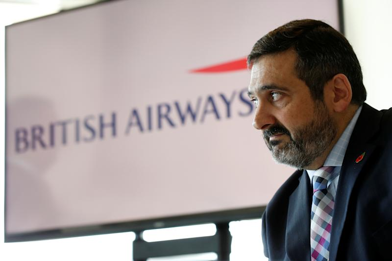 British Airways CEO Alex Cruz speaks during a news conference in Tel Aviv, Israel November 9, 2017. REUTERS/Nir Elias