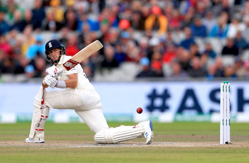 England's Joe Root bats during day three. (Credit: Getty Images)