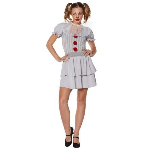Adult Pennywise Dress Costume - IT Chapter 2. (Photo: Spirit Halloween)