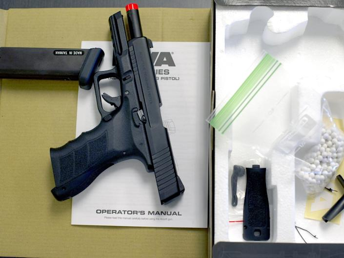 Airsoft guns look similar to genuine firearms (AFP/Getty Images)
