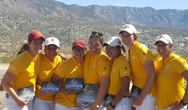 The Iowa State women's golf team, still reeling from the murder of Celia Barquin Arozamena, claimed their first stroke-play title since 2012—and won it in historic fashion