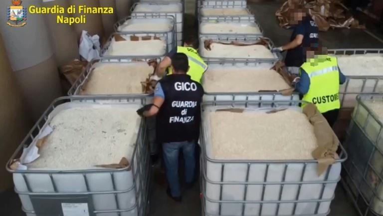 The amount of drugs seized were sufficient to satisfy the entire European market, police said