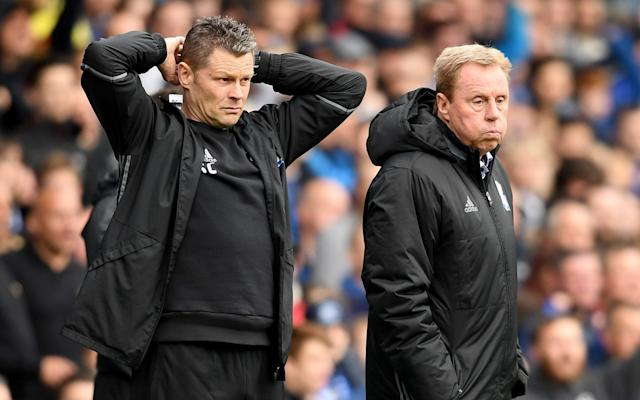<span>Redknapp and his assistant Steve Cotterill</span> <span>Credit: Getty Images </span>