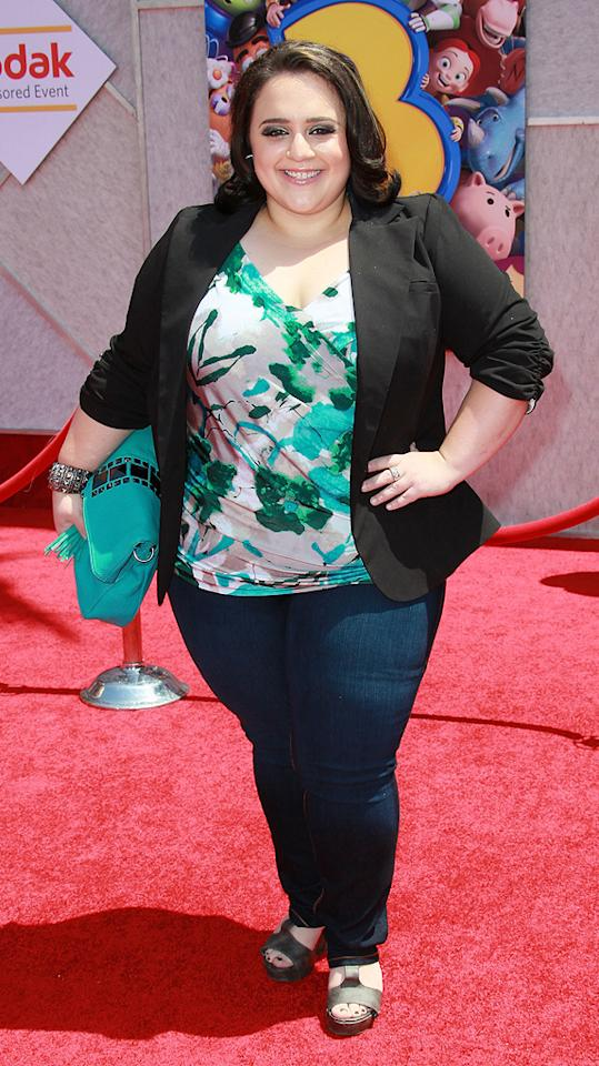 "<a href=""http://movies.yahoo.com/movie/contributor/1809707426"">Nikki Blonsky</a> at the Los Angeles premiere of <a href=""http://movies.yahoo.com/movie/1809266566/info"">Toy Story 3</a> - 06/13/2010"