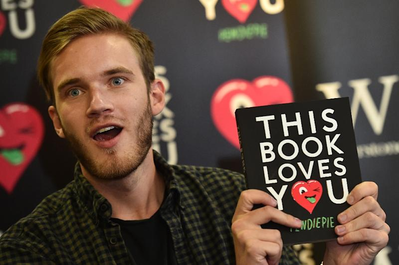 Swedish blogger PewDiePie is known for posting humorous clips and playing livestreamed video games for his nearly 90 million followers on YouTube