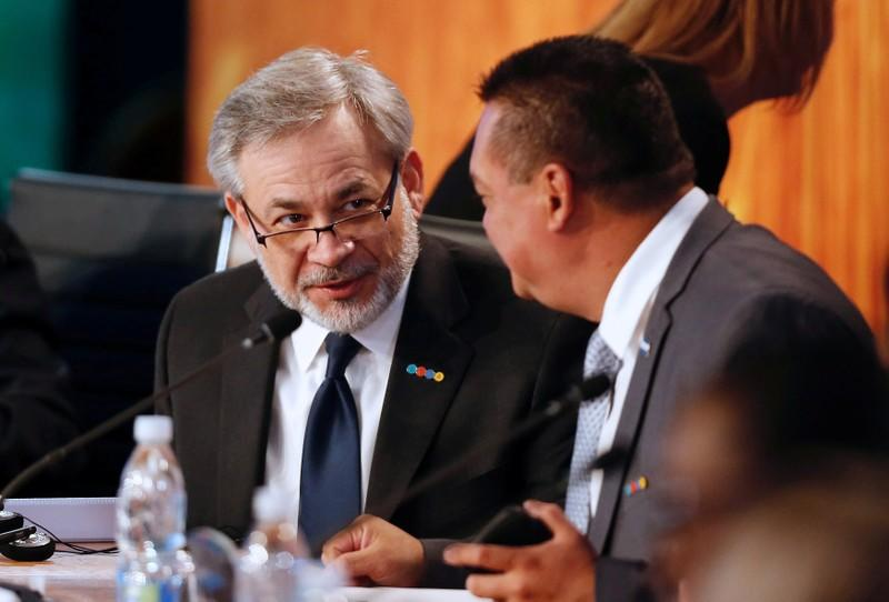 """FILE PHOTO: Deputy Secretary of the U.S. Department of Energy Brouillette attends a meeting of the """"Energy and Climate Partnership of the Americas"""" in Vina del Mar"""