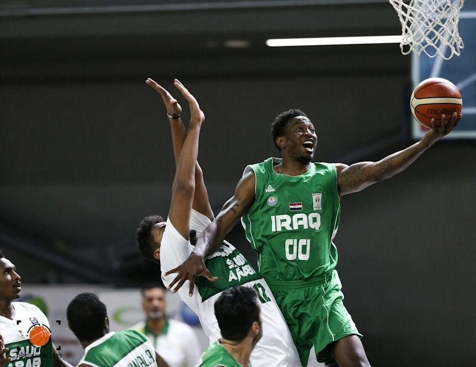 Georgia-born DeMario Mayfield received dual citizenship last year so he could play for the Iraqi national team. (Photo via DeMario Mayfield)