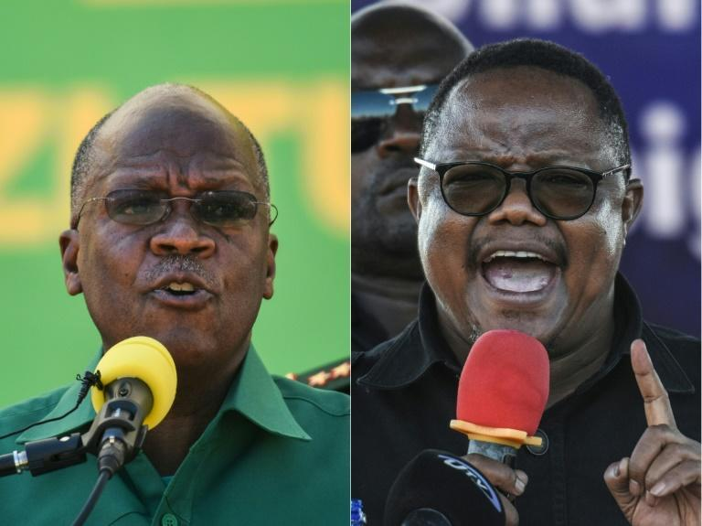 Tanzania's incumbent President John Magufuli, left, will be challenged by Tundu Lissu, right, who was shot 16 times in a 2017 attack