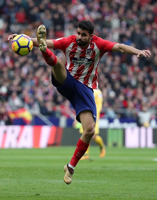 Soccer Football - La Liga Santander - Atletico Madrid vs Girona - Wanda Metropolitano, Madrid, Spain - January 20, 2018 Atletico Madrid's Diego Costa in action REUTERS/Sergio Perez