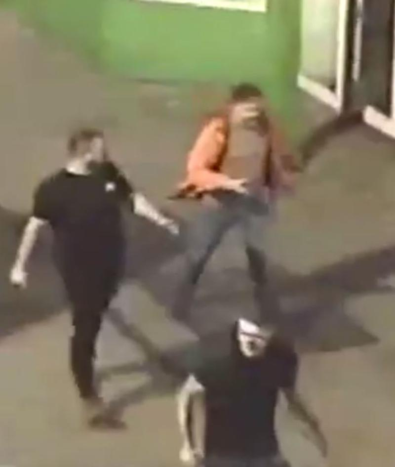 CCTV showed three men walking away from the scene of the incident (Humberside Police)