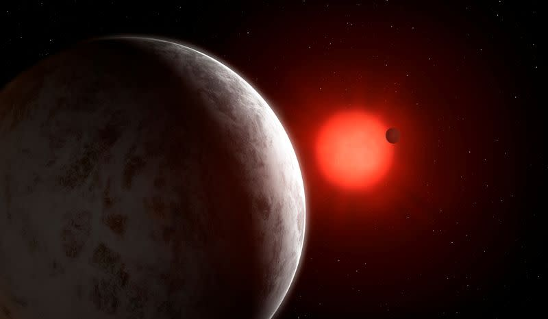 The multiplanetary system of newly discovered super-Earths orbiting nearby red dwarf star Gliese 887