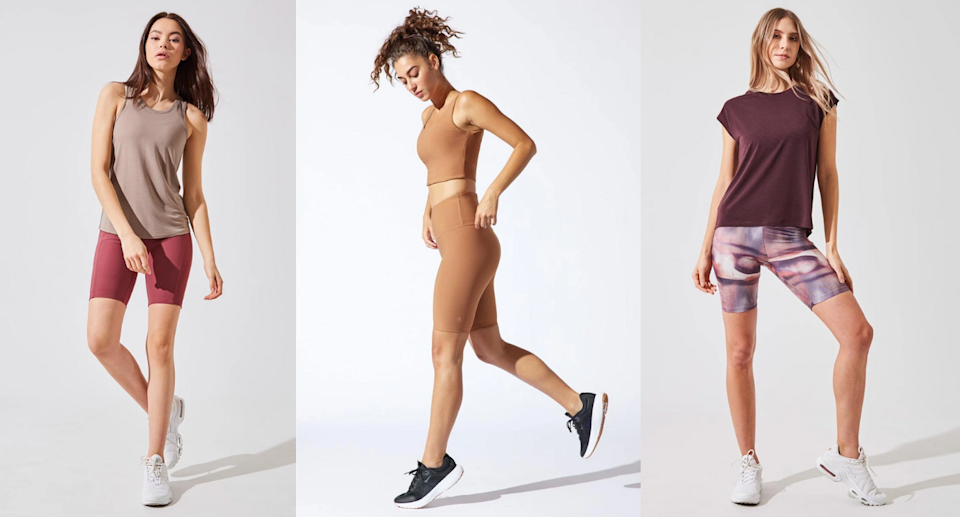 We styles four pairs of MPG Sport's bike short styles.