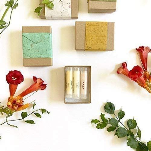 <p>Keep their lips hydrated and nourished with the <span>Kaya Natural &amp; Organic Lip Balms - Three Handmade Lip Balm Gift Box</span> ($13). It comes in rose, lavender, and citrus flavors.</p>