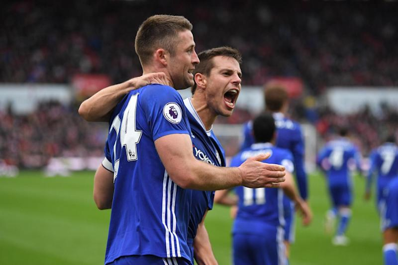Happy | Cesar Azpilicueta (right) says he feels loved at Chelsea: Getty Images