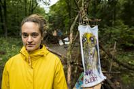 Carola Rackete has swapped her captain's hat for yellow waterproofs as she wades through the mud in the Dannenrod forest in central Germany, surrounded by ancient oak trees