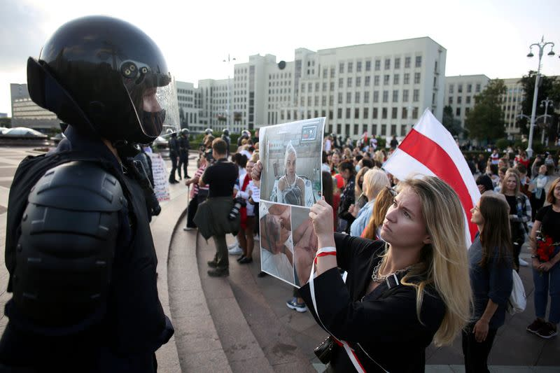 Belarusian police say officers' personal data leaked online