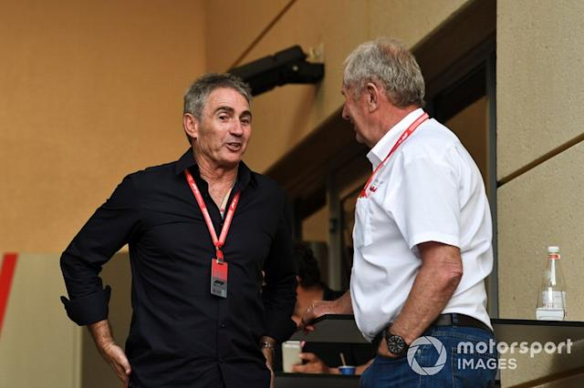 """Mick Doohan, former 500cc Motorcycle world champion, Helmut Markko, Consultant, Red Bull Racing <span class=""""copyright"""">Mark Sutton / Motorsport Images</span>"""