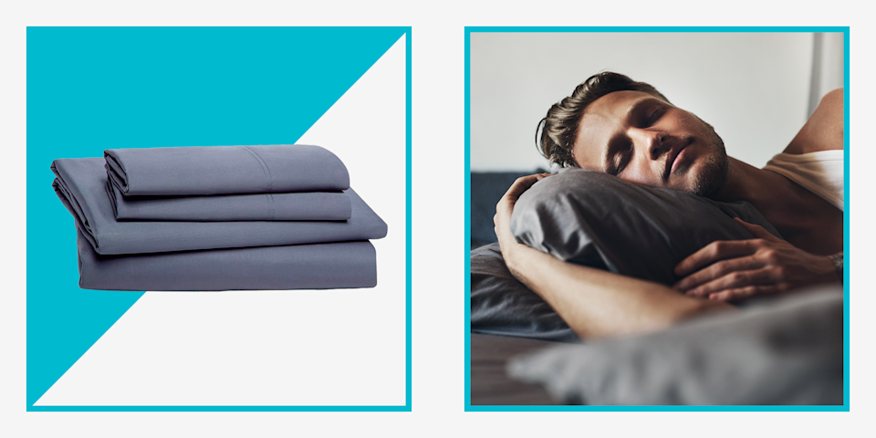 """<p>For a lot of men, bed sheets are simply utilitarian, something that goes between you and <a href=""""https://www.menshealth.com/technology-gear/a36354918/casper-wave-hybrid-snow-mattress-review/"""" rel=""""nofollow noopener"""" target=""""_blank"""" data-ylk=""""slk:a quality mattress"""" class=""""link rapid-noclick-resp"""">a quality mattress</a>, but doesn't require much thought. It might be nice if that were true—if all sheets really were created equal, you could just grab a set off the shelf knowing they would work for you. But the truth is, sheets come in a wide variety of materials, styles, and sizes. And since you're likely to spend hours a night with your sheets, it's important to find the ones that work for you.</p><p>One compelling option is bamboo sheets—especially if you're a hot sleeper, since they tend to <a href=""""https://www.menshealth.com/technology-gear/a19537948/best-cooling-sheets/"""" rel=""""nofollow noopener"""" target=""""_blank"""" data-ylk=""""slk:stay a few degrees cooler"""" class=""""link rapid-noclick-resp""""><u>stay a few degrees cooler</u></a>, compared to sheets made from cotton. Bamboo sheets breathe better, trapping less heat, which makes them good for any season. They're also more environmentally friendly, requiring as much as 200 times less water to produce. (Bamboo grows quickly and begins to regrow as soon as it's cut down, unlike cotton. That also makes it a strong, sustainable alternative to wood, including in toilet paper.) They also absorb moisture and are softer than cotton or linen. On top of all that, bamboo sheets are naturally hypoallergenic and antibacterial, making them a good option <a href=""""https://www.menshealth.com/grooming/g22686394/best-moisturizer-for-men/"""" rel=""""nofollow noopener"""" target=""""_blank"""" data-ylk=""""slk:if you have sensitive skin"""" class=""""link rapid-noclick-resp"""">if you have sensitive skin</a>.</p><p>If those are all the benefits of good bamboo sheets, what's the downside? Cost. Bamboos sheets can be more expensive than their counterparts. That said, they"""