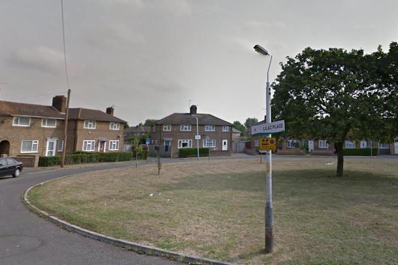 Scene: the attack took place in Lilac Place, Yiewsley, near West Drayton station: Google
