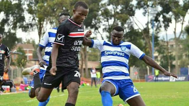 Duncan Otieno made his national team debut on Tuesday against Malawi