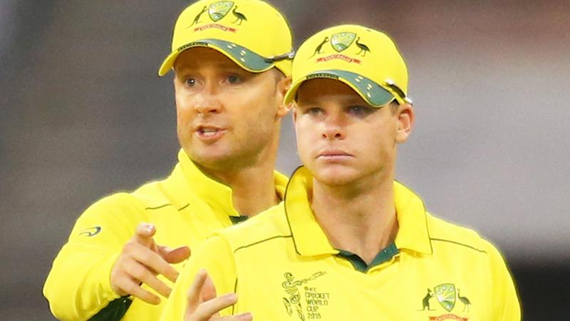 Michael Clarke and Steve Smith, pictured here at the 2015 World Cup.
