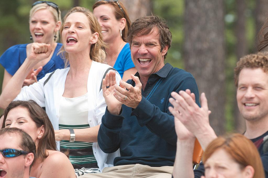 """Uma Thurman and Dennis Quaid in FilmDistrict's """"Playing for Keeps"""" - 2012"""