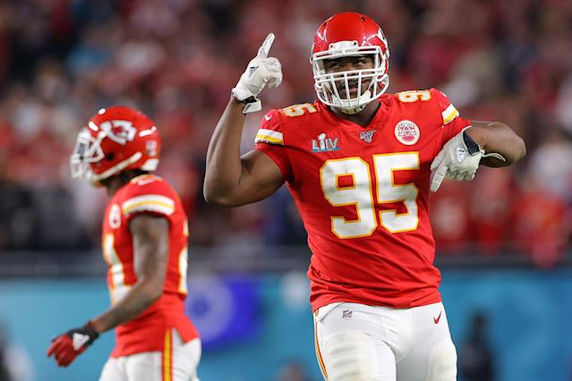 The Chiefs want to keep Chris Jones around. (Photo by Kevin C. Cox/Getty Images)