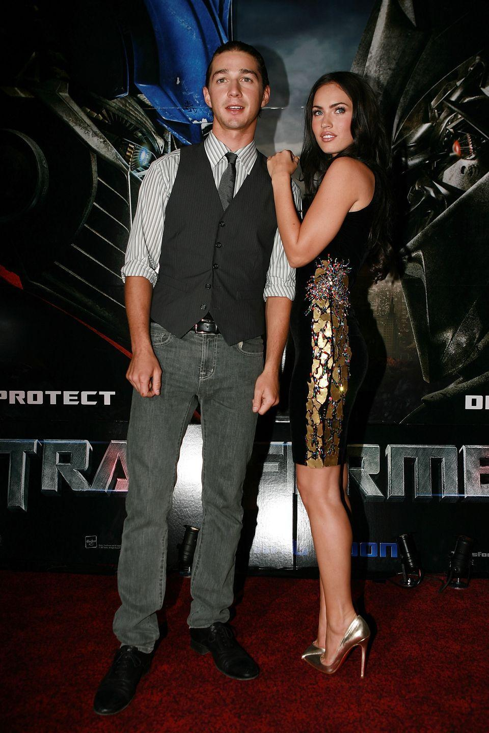 "<p>The pair met on the set of <em>Transformers, </em>and their on-screen chemistry sparked speculation that they were dating in real life. It's unclear whether or not the two were an item during their first or second film together—or if Fox was involved with now-husband Brian Austin Green at the time—but Fox confirmed on <em><a href=""https://www.youtube.com/watch?v=XcAdzkprQyo"" rel=""nofollow noopener"" target=""_blank"" data-ylk=""slk:Watch What Happens Live with Andy Cohen"" class=""link rapid-noclick-resp"">Watch What Happens Live with Andy Cohen</a> </em>that they <em>did </em>in fact date.</p>"