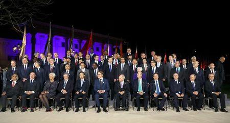 Family picture during the G20 Finance Ministers and Central Bank Governors Meeting in Baden-Baden