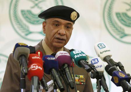 Major General Mansour Al-Turki, a security spokesman from the Saudi Arabian Ministry of Interior, holds a news conference on the executions of 47 people, in Riyadh, Saudi Arabia January 2, 2016. REUTERS/Faisal Al Nasser