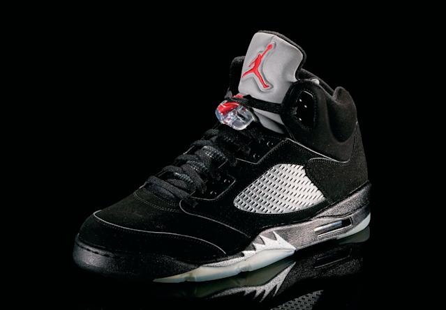 "<p>Air Jordan IV - ""Taking Flight"" (1989): Cleveland Cavaliers fans must rue these shoes; Jordan wore these when he hit ""The Shot"" to beat them in Game 5 of their first-round playoff series. (Photo Courtesy of Nike)</p>"