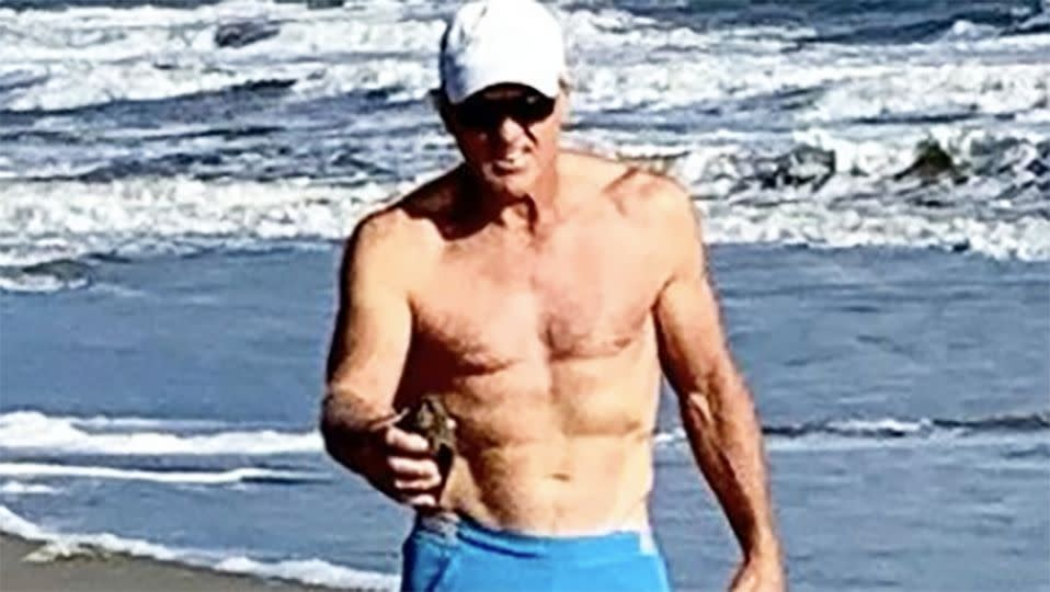 Pictured here, the Greg Norman that sent social media into a frenzy.