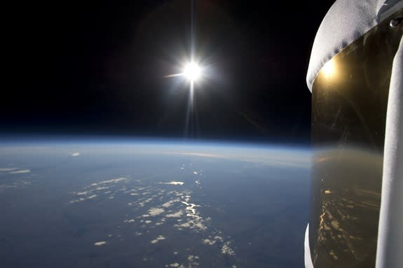 Human space tourists could soon enjoy this view of the sun and Earth as seen from a Zero 2 Infinity balloon test on Nov. 12.