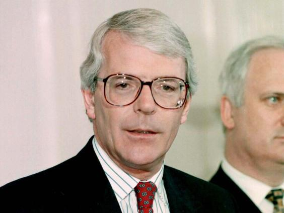 John Major was – at least initially – delighted by the tale of the Turkmenistan horse (PA)