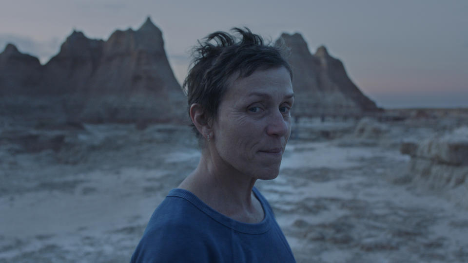 Frances McDormand playing a previously successful woman now living as a van-dwelling nomad (Searchlight Pictures)