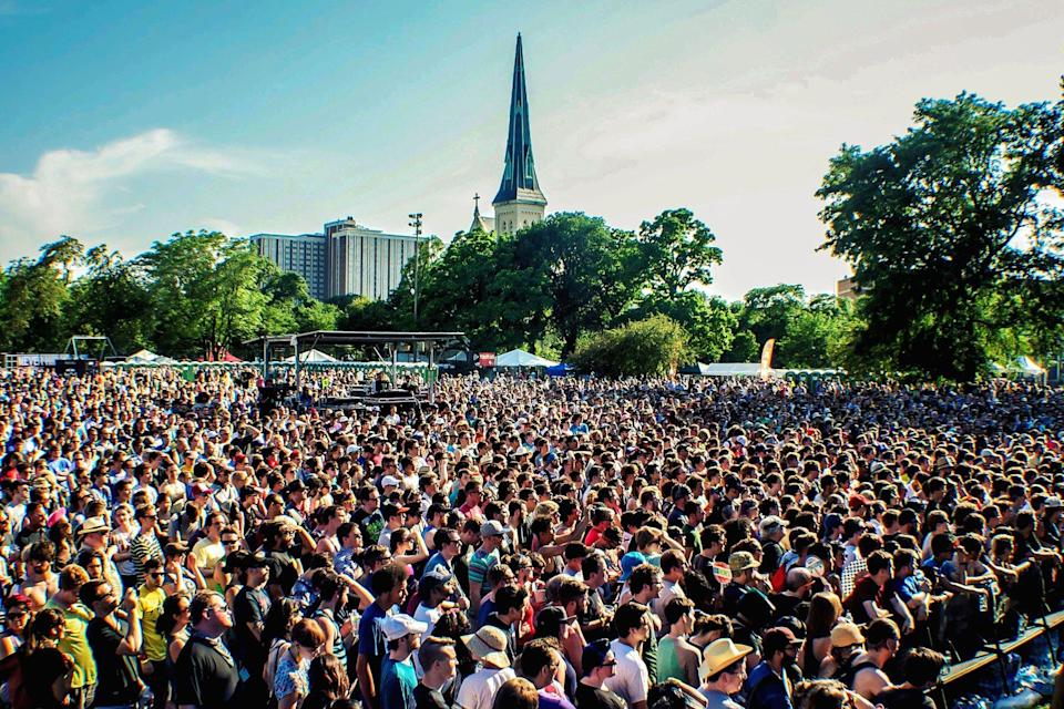 crowds at music festival