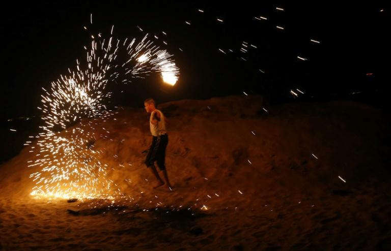 Organisers say the night protests aim to force the Jewish state to ease its crippling decade-long blockade of Gaza, but residents in nearby Israeli communities say their lives are being destroyed