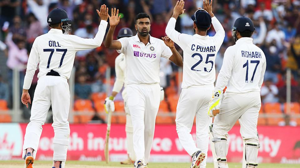 Ravi Ashwin, pictured here celebrating a wicket during the third Test between India and England.