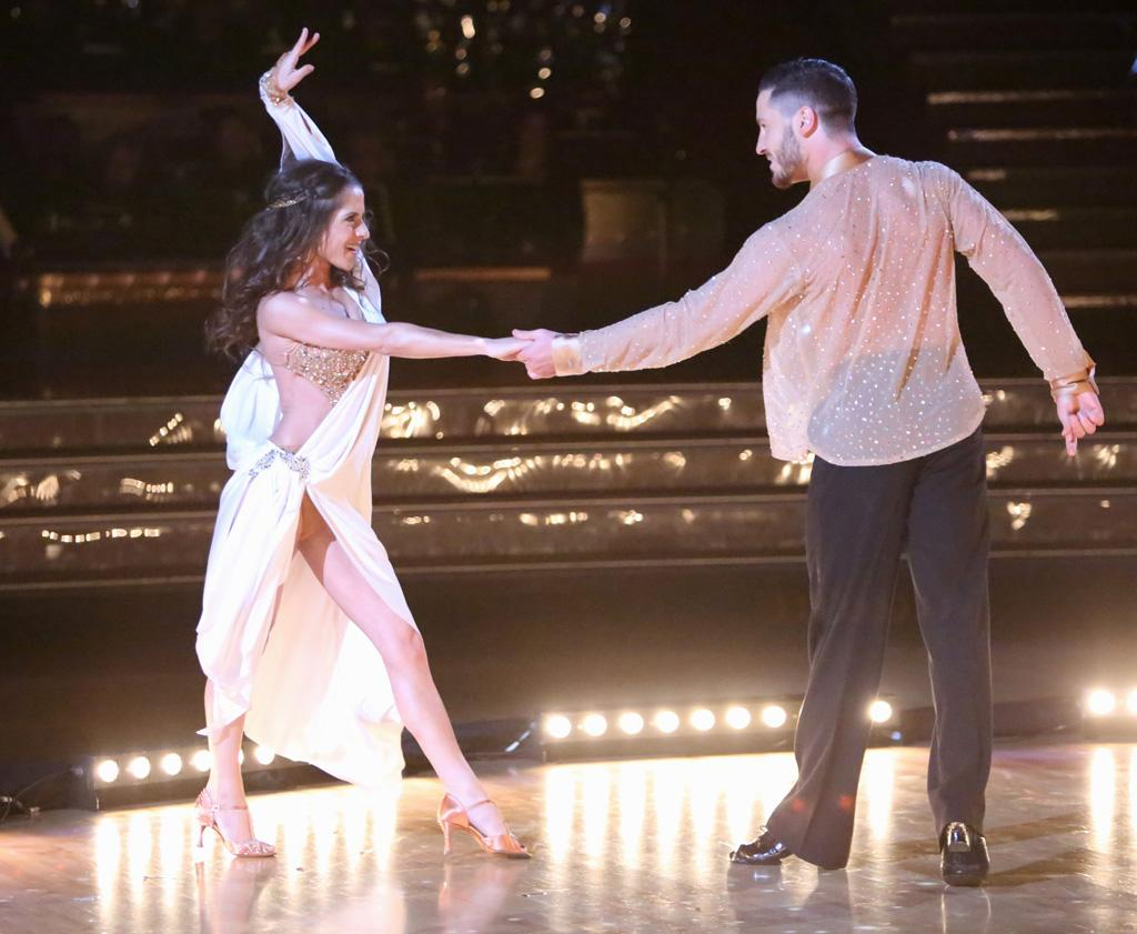"Kelly Monaco and Valentin Chmerkovskiy perform on ""Dancing With the Stars: All-Stars."""