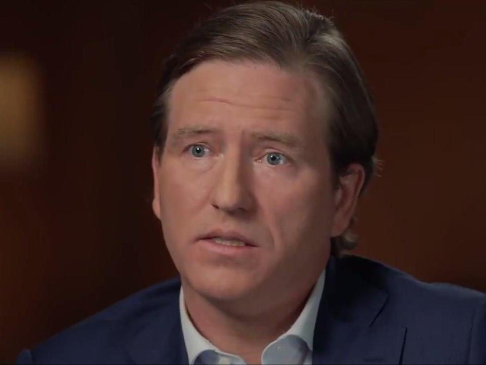 Chris Krebs, the former top US official on cybersecurity, in an interview with CBS  (CBS News / CBS 60 Minutes)