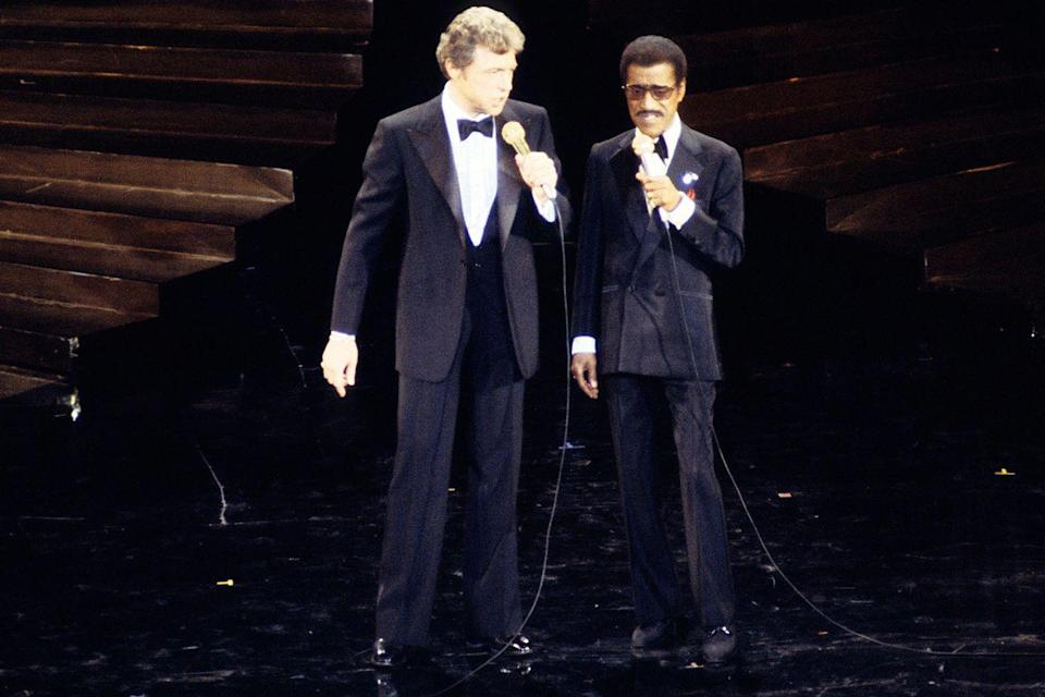 "<p>Steve Lawrence and Sammy Davis Jr. took the stage to perform a medley called ""Oscar's Only Human"" comprised of songs that weren't included in the Best Original Song category.</p>"