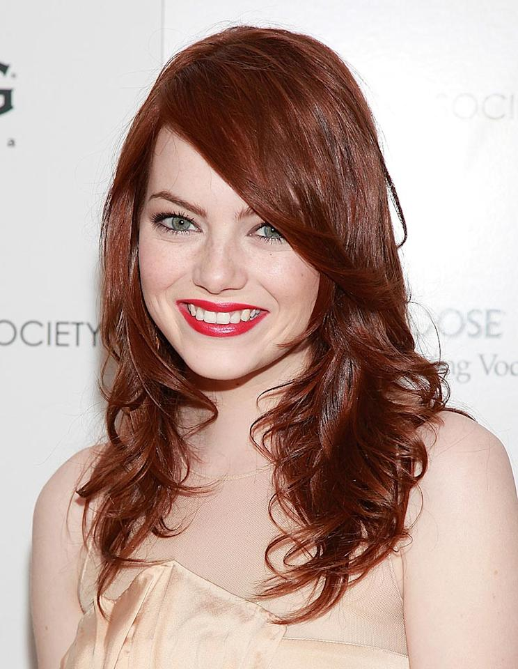 "Emma Stone's career really took off once she ditched her light locks. ""When I first moved to L.A., I had this agent who thought, because I was blonde, that I only wanted to play cheerleaders,"" said ""The Easy A"" star. ""So she'd send me out for all these parts where they thought: 'What a weird 15-year-old. It's not going to work out!' I don't know if anyone necessarily underestimated me as a blonde -- I think I just had a crappy agent. So one day, in a fit of trying to do something different, I just dyed my hair dark brown and got my first role a week later, after which I thought: 'People are close-minded, man! Like a different hair color changes everything!'"" Charles Eshelman/<a href=""http://filmmagic.com/"" target=""new"">FilmMagic.com</a> - April 5, 2010"