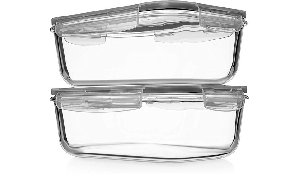 Large Glass Food Storage/Baking Containers with Locking Lids
