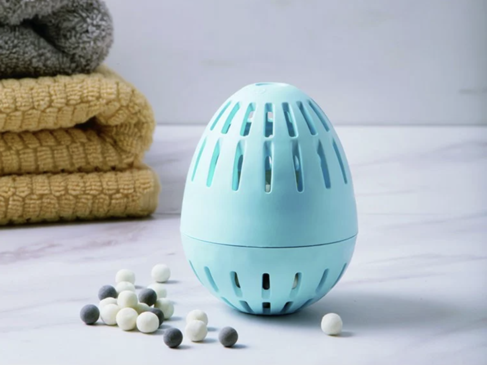 Get a load of this: The Ecoegg completely replaces detergent and lasts for up to 720 washes. (Photo: The Grommet)