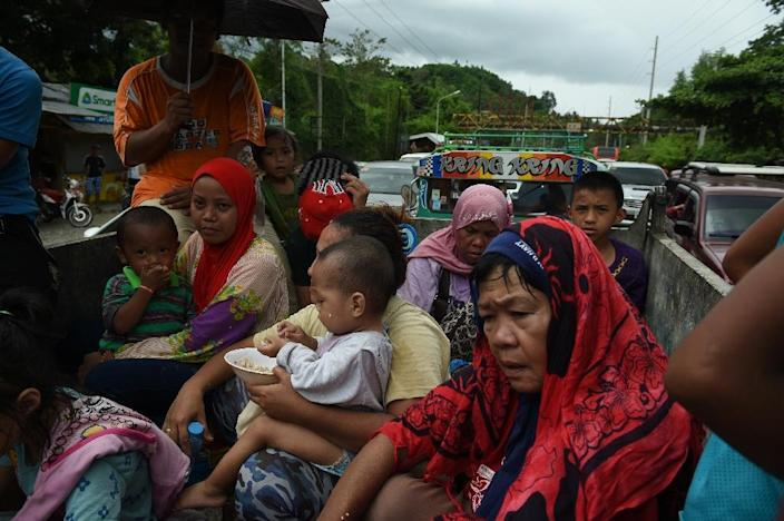 The southern city of Marawi has about 200,000 residents but many of them have fled because of the fighting (AFP Photo/TED ALJIBE)