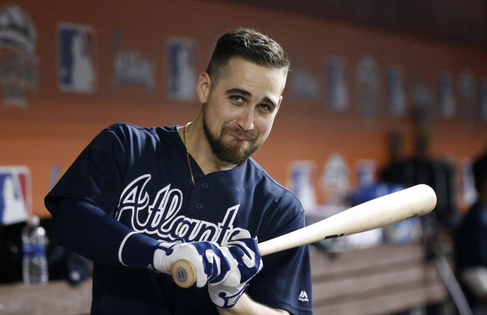 Ender Inciarte isn't the buzziest name in Atlanta's outfield, but he gave us 93 runs and 22 steals last season. (AP Photo/Wilfredo Lee)
