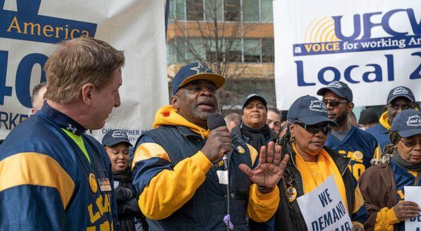 Jeff Reid says his 'last photo' was this one showing him speaking at a rally. (Courtesy UFCW Local 400)