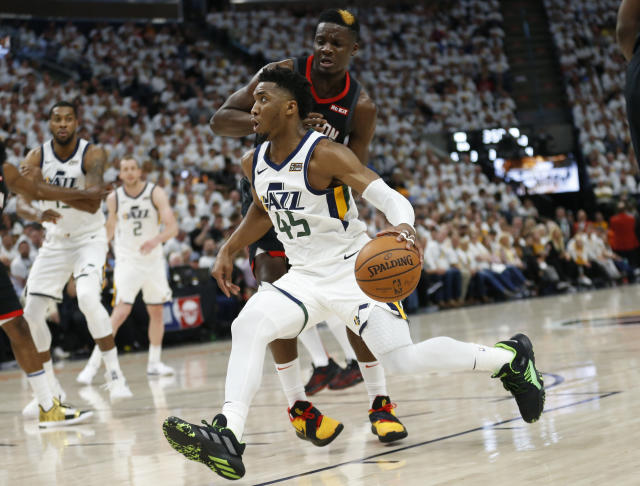 Utah Jazz guard Donovan Mitchell is committed to participating on Team USA, according to Yahoo Sports' Chris Haynes. (AP Photo/Rick Bowmer)
